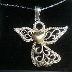 Jewelry - 10k & Sterling Guardian Angel